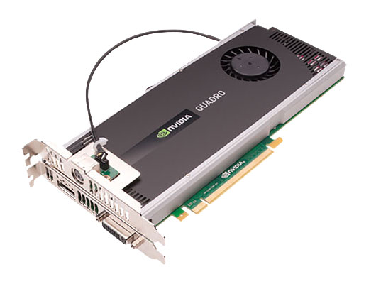 NVIDIA Quadro 4000 with optional stereo connector